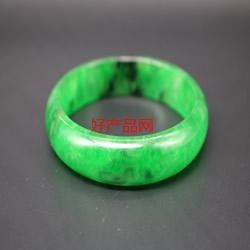 糯冰种满绿翡翠手镯