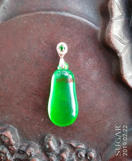 翡翠正阳绿福瓜吊坠